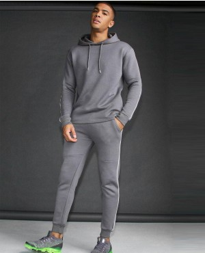 Active Skinny Fit Reflective Piping Tracksuit