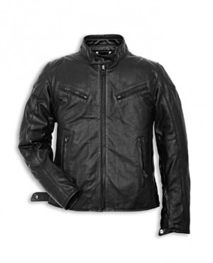 All Black Stylish Fashion New High Quality Men Sheep Leather Jacket