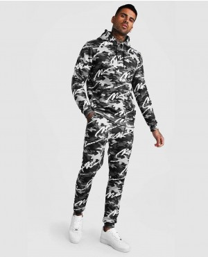 All Over Printed Camo Hooded Tracksuit
