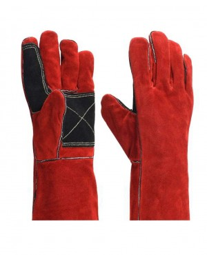 Anti Cut Safety Work Cow Split Protection Faux Leather Sport Wear Gloves