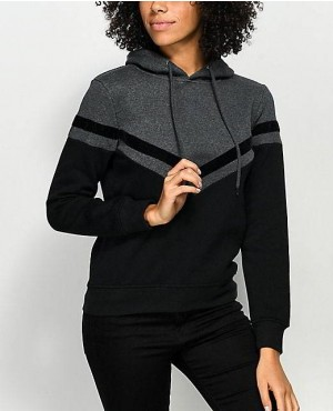 Awesome Beauty Style Charcoal And Black Hoodie
