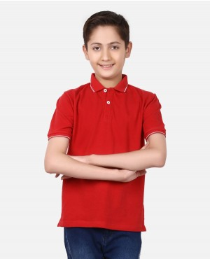 Baby Boys & Kids Jersey Short Sleeve Kids Regular Fit Cotton Polo Shirt