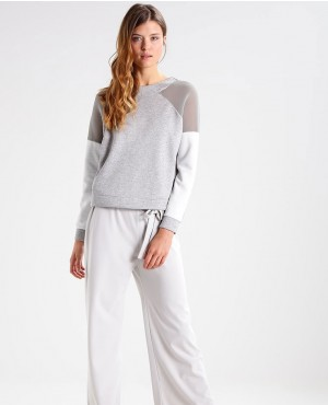 Back Half Zipper Mesh Paneled Sexy Sweatshirt