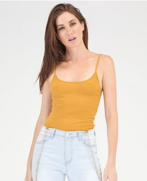 Base Layer Ribbed Cami Tank Top