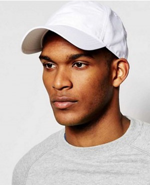 Baseball Cap In White