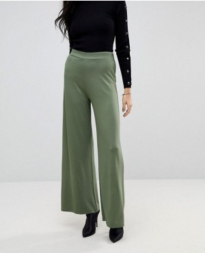 Basic Jersey Wide Leg Custom Trousers