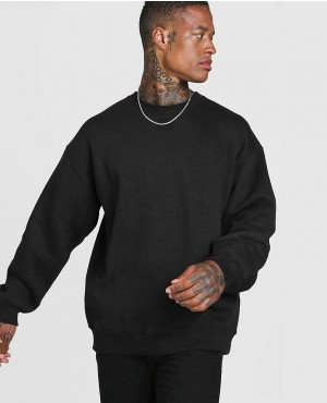 Basic Oversized Crew Neck Sweatshirt
