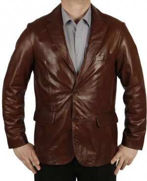 Best Faux Moto Leather Blazer for Men