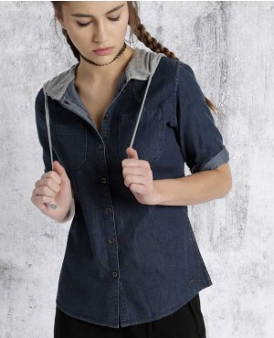Best-Sell-Cotton-Tops-Elegant-Fit-Women-Navy-Hooded-Casual-Shirt-RO-3318-20-(1)