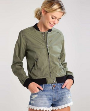 Black & Olive Hot Look Women Jacket
