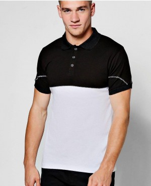 Black And White High Quality Polo Shirt Custom Made