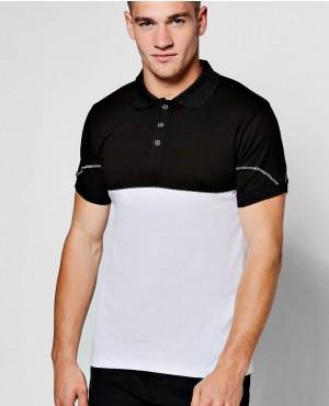 Black And White High Quality Polo Shirt Custom Made
