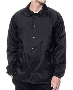 Black Buttoned Coach Custom Jacket