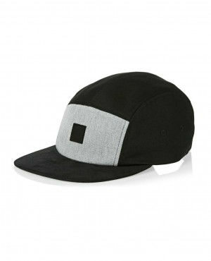 Black Cap with Velcro Removable Badge