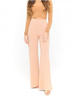 Black High Waisted Button Embellished Trousers