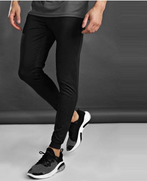 Black Man Active Fitted Joggers