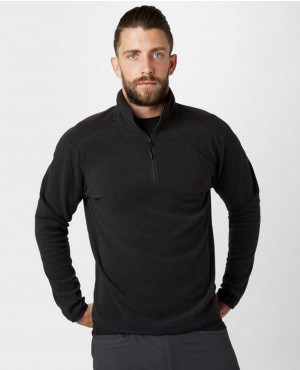 Black Quarter Zip Fleece Jacket