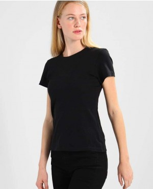 Black T Shirt Round Nack