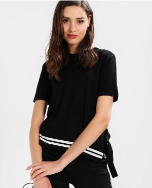 Black T Shirt With Side Buckle