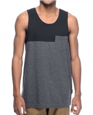 Blocked with Chest Pocket Tank Top