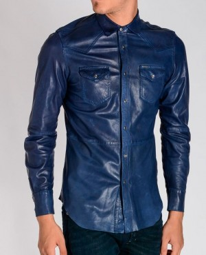 Blue-Sheepskin-Custom-Branded-Leather-Shirt-Front-Pockets-RO-3831-20-(1)
