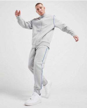 Blue Taping Fleece Tracksuit For Jogging