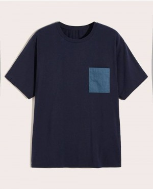 Boys Patched Pocket Tee Boys Color Block Striped Tee