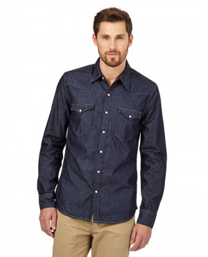 Brand Your Own Dark Blue Denim Shirt