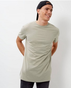 Brand Your Own Olive Green Longline T Shirt