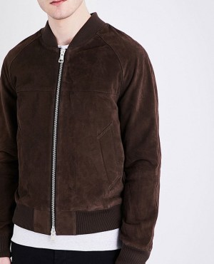 Brand Your Own Stylish Goat Suede Leather Jacket