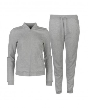 Brand Your Own Women Gery Fleece Zipper Sweatsuit
