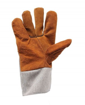 Branded Welding Work Soft Cowhide Leather Plus Gloves For Protecting Hand Safety Gloves
