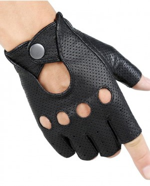 Breathable Hollow Men And Women Genuine Leather Gloves