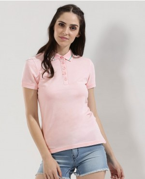Button Down Collar T-Shirt Polo
