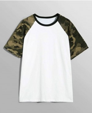 Camo Raglan Sleeve Brand Your Own T-Shirt