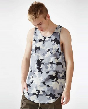 Camouflage Scallop Tank Top