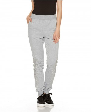 Casual Jogger Pants Women Zipper Sport Trousers
