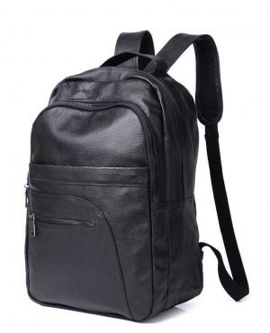 Casual-Black-Travel-Backpack-100%-Genuine-Cowhide-Leather-Laptop-School-Bag-RO-3-(4)