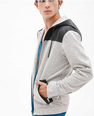 Cheap Stylish Hoodie with Zippers at Arms