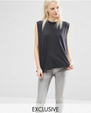 Cheap Monday High Neck Longline Tank