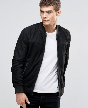Cheap Price with Lower Minimum Order Quantity Suede Bomber Jacket