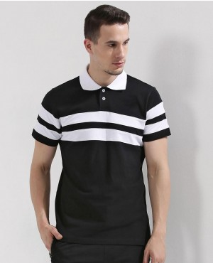 Chest Striped Polo Shirt