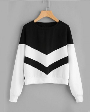 Chevron Style Custom Made Women Crewneck