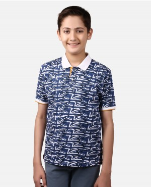 Childs Custom Sublimation Poloshirt With Front Pocket And Custom Logo