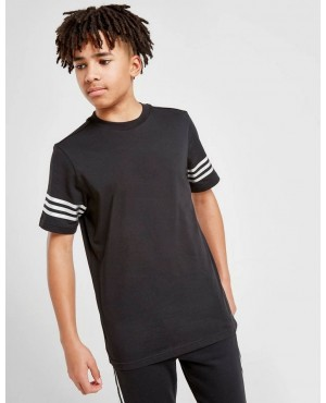 Childs T-Shirts Sleeve Down Stripes Front Custom Printed Logo Short Sleeve Tee