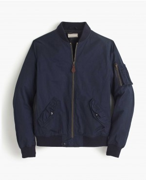 Classical Bomber Jacket with Sleeves Pocket