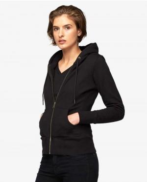 Classical Full Zipper Women Hoodie Style