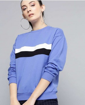 Color Blocked Bust Stripes Custom Crew