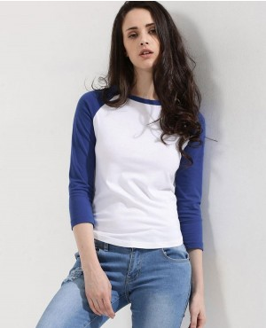 Contrast Raglan Sleeve T Shirt