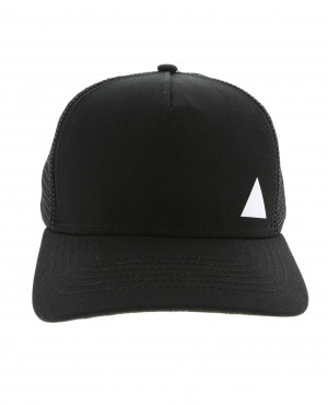 Corporate Trucker Cap in Black With Mesh